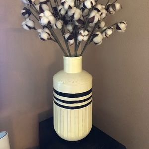 Metal farmhouse vase.